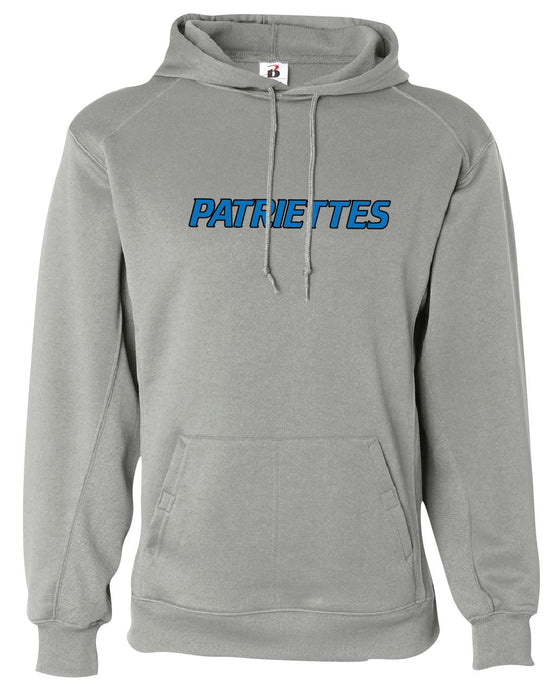 Patriettes Standard Logo - Performance Hoodie Sweatshirt - 100% Poly (ADULT)
