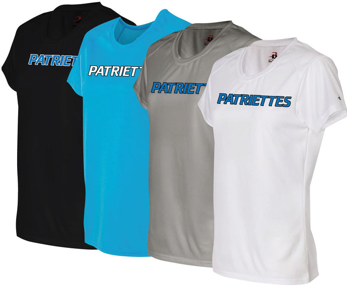 Patriettes Standard Logo – Badger Performance T-Shirt - 100% Performance Poly (LADIES)