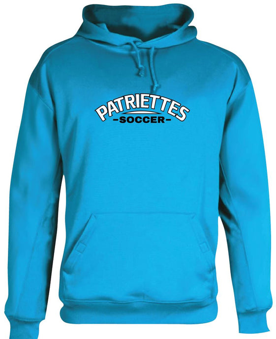 Patriettes Soccer Logo - Performance Hoodie Sweatshirt - 100% Poly (ADULT)