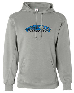 Patriettes Soccer Logo - Performance Hoodie Sweatshirt - 100% Poly (ADULT and YOUTH)