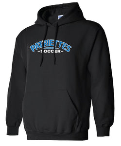 Patriettes Soccer Logo - Standard Hoodie - Cotton Blend (ADULT and YOUTH)