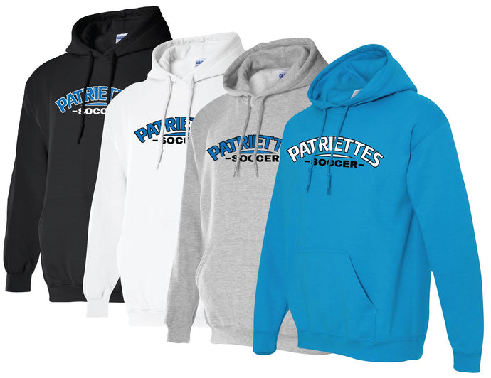 Patriettes Soccer Logo - Standard Hoodie - Cotton Blend (ADULT)