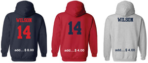 "Patriots ""P"" Logo - Standard Hoodie - Cotton Blend (ADULT and YOUTH)"