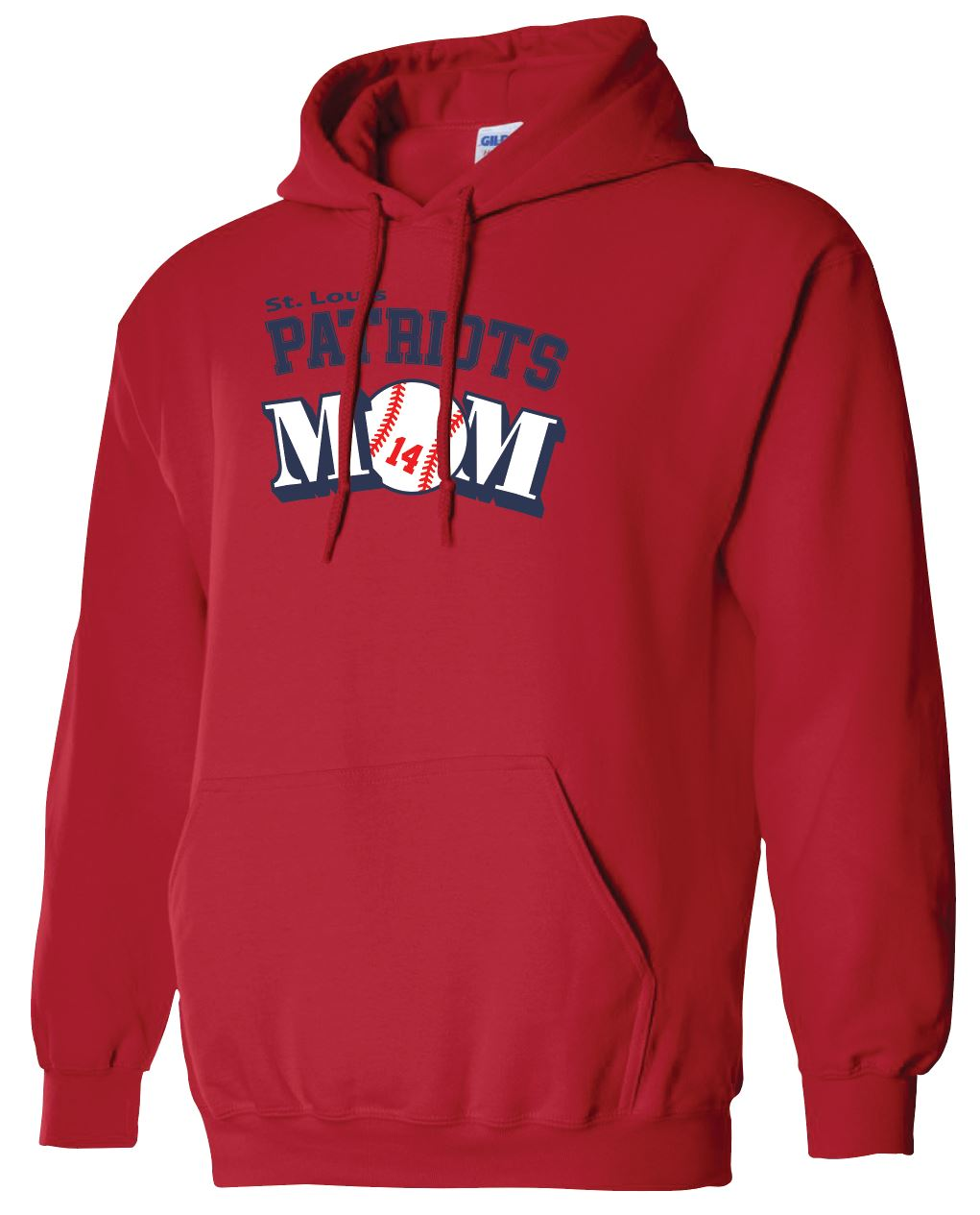 Patriots Mom Logo - Standard Hoodie - Cotton Blend (ADULT)