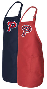 "Full-Length BBQ Apron with Pockets - ""P"" Logo"