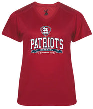 Load image into Gallery viewer, Patriots STL Logo – V-neck Badger Softlock Tee - 100% Performance Poly (LADIES)