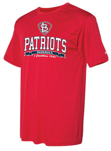 Patriots STL Logo - Badger Softlock Tee- 100% Performance Poly (ADULT and YOUTH)
