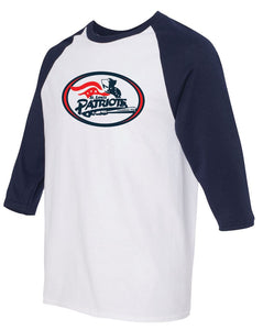 Patriots Traditional Logo - Baseball 3/4 Sleeve Tee - 100% Cotton (ADULT and YOUTH)