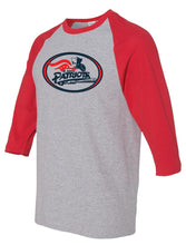 Load image into Gallery viewer, Patriots Traditional Logo - Baseball 3/4 Sleeve Tee - 100% Cotton (ADULT and YOUTH)