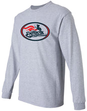 Load image into Gallery viewer, Patriots Traditional Logo - Standard Long Sleeve T-Shirt – 100% Cotton (ADULT and YOUTH)