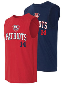 Patriots STL Logo - Badger B-Core Sleeveless T-Shirt (ADULT)