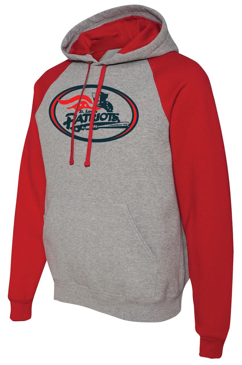Jerzees Raglan Sleeve Hooded Sweatshirt (ADULT) - Traditional