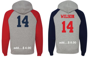 Patriots STL Logo - Bi-Color Hoodie Sweatshirt - Cotton Blend (ADULT)