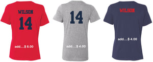 "Patriots ""P"" Logo – V-neck Premium T-Shirt - 100% Ringspun Cotton (LADIES)"
