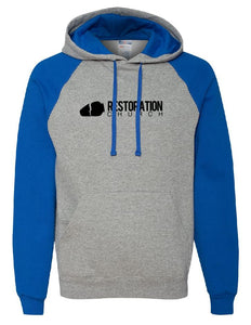 RC - Bi-Color Hoodie Sweatshirt - Cotton Blend (ADULT)