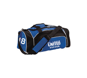 Duffel bag with team number