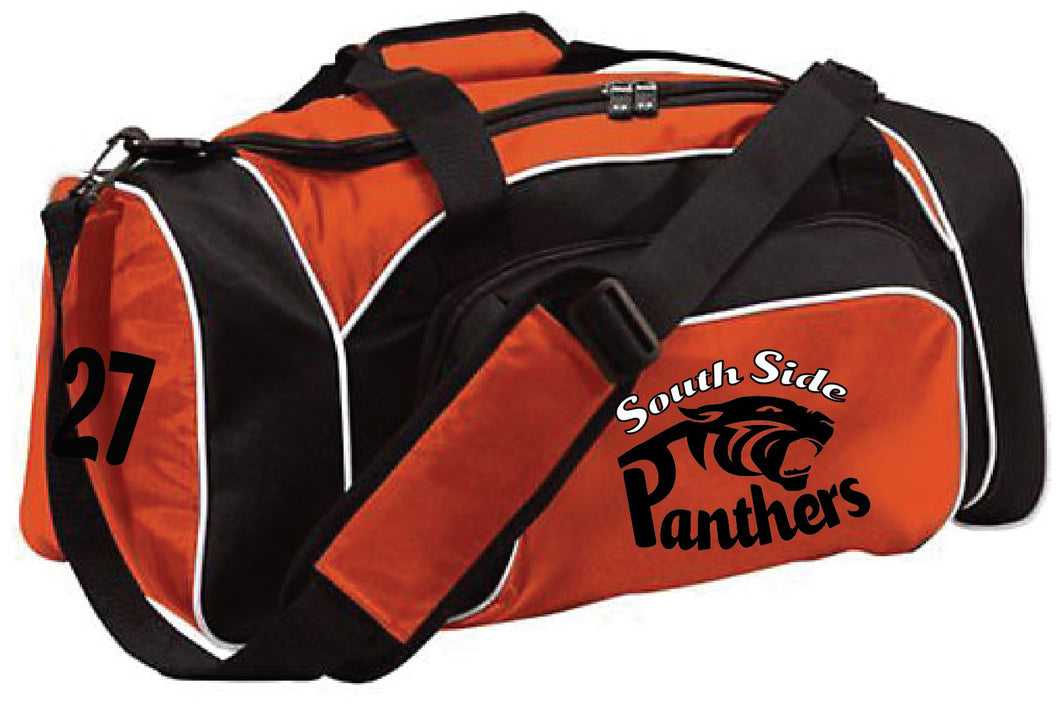 Panthers Duffel bag with team number