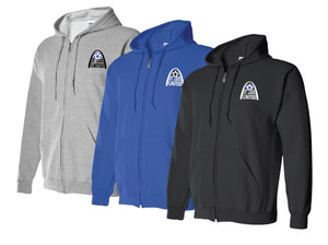 United Arched Logo - Full Zip Hoodie - Cotton Blend (ADULT)