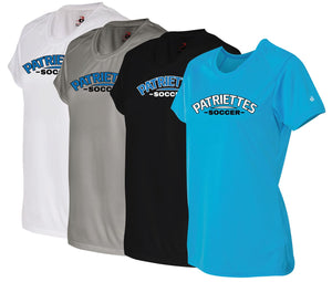 Patriettes Soccer Logo – Badger Performance T-Shirt - 100% Performance Poly (LADIES)