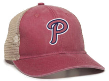 Load image into Gallery viewer, Patriots - P Logo - Ponytail Mesh-Back Cap (LADIES)