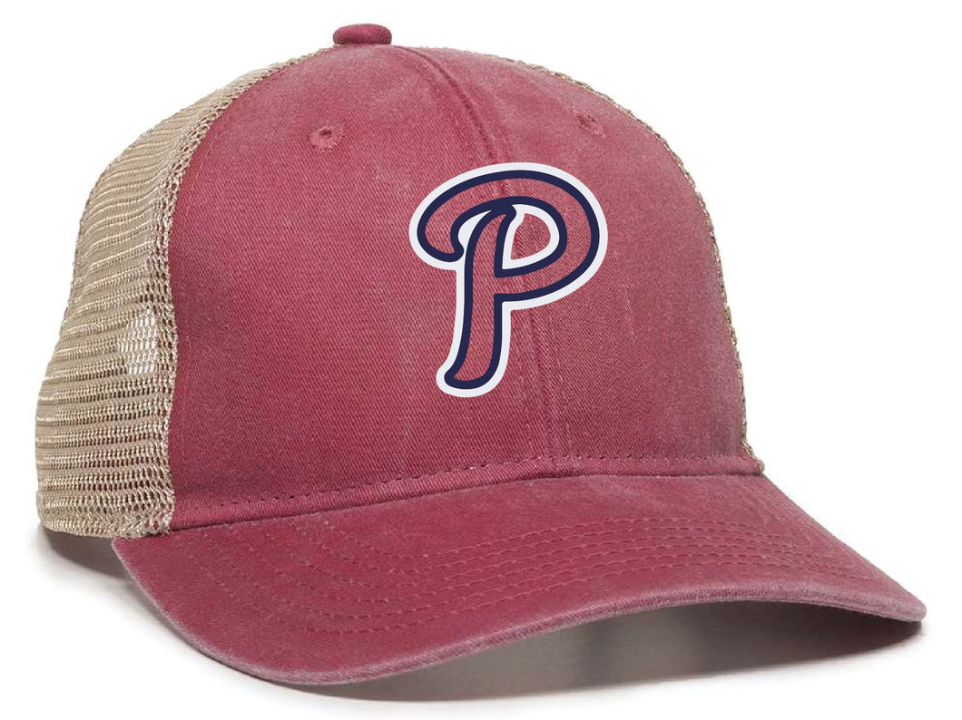 Patriots - P Logo - Ponytail Mesh-Back Cap (LADIES)