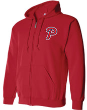 Load image into Gallery viewer, Patriots P Logo - Full Zip Hoodie - Cotton Blend (ADULT)