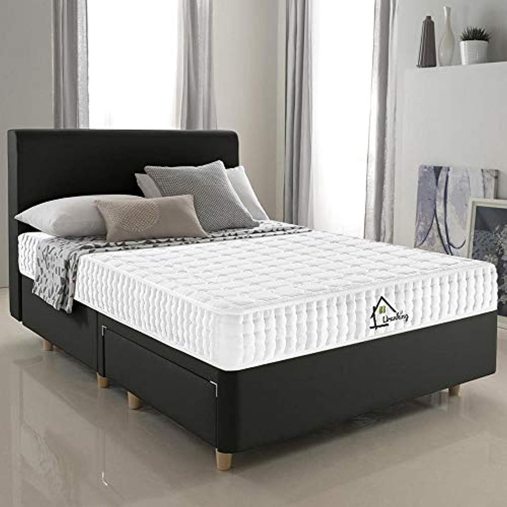 Lv. life Small Double TENCEL Fabric Mattress, 4FT Small Double Ergonomic Design with Memory Foam with 9-Zone Support System - 100 Nights Trial