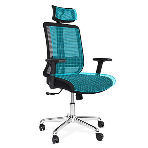 Lv. life Mesh Office Chair Ergonomic Swivel Desk Chair with Adjustable Height and Head Support, Black