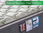Ej. Life Single Bamboo Fiber Mattress, 3FT Single Pocket Sprung Mattress with Memory Foam - 9 Zone Orthopaedic Mattress
