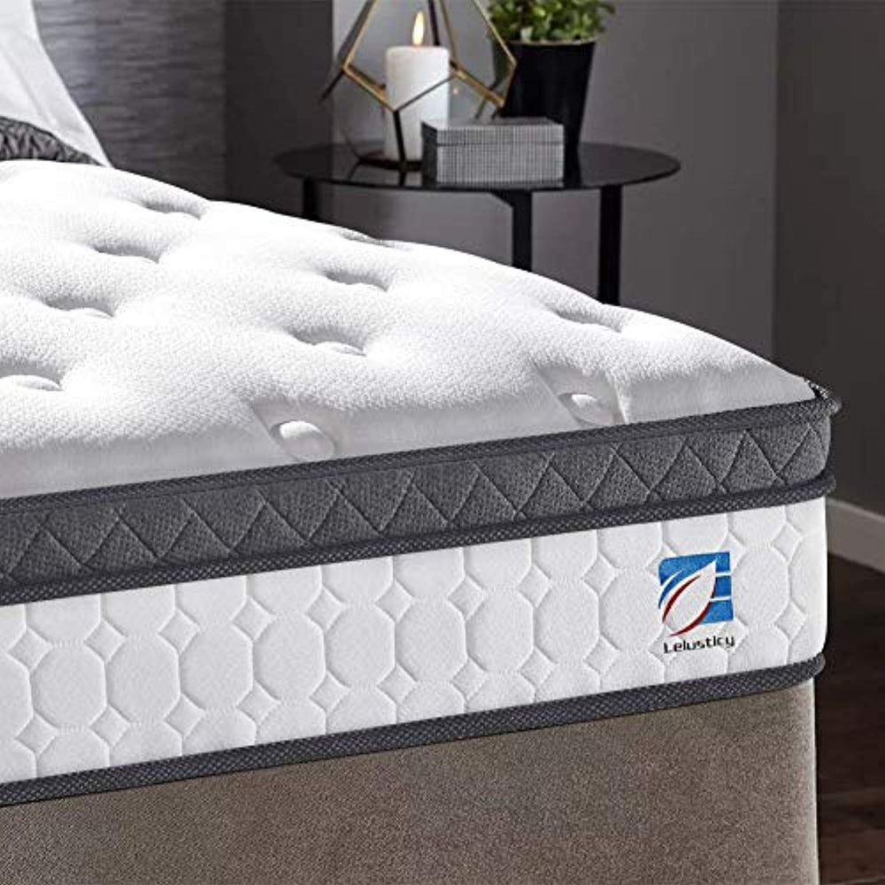 Ej. Life 3FT Single Mattress, Single Pocket Sprung Mattress with Memory Foam and Knitted Fabric - 9 Zone Orthopaedic Mattress