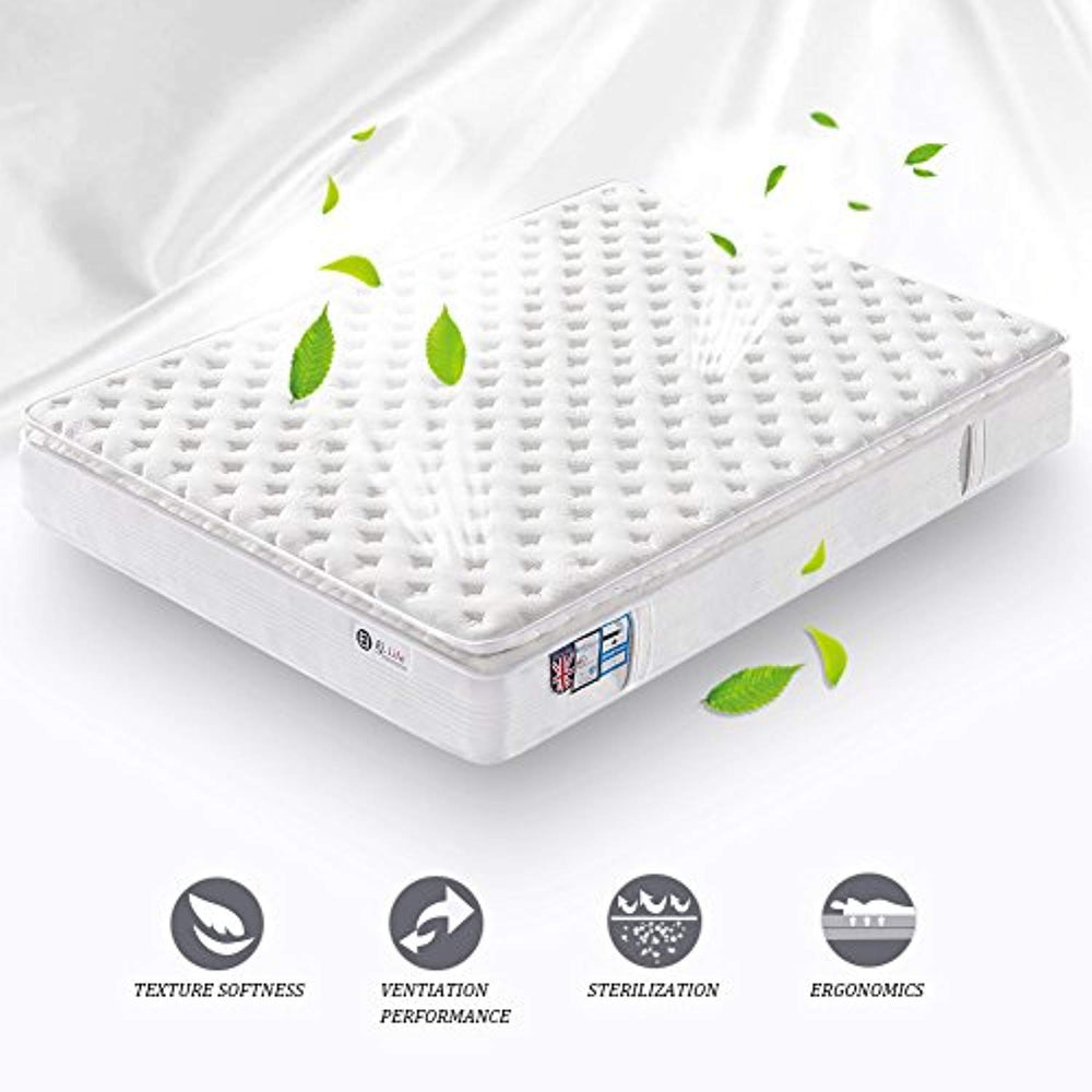 3FT Single Pocket Sprung Mattress with Tencel Fabric - Multi-Functional 9-Zone Orthopaedic Mattress with Memory Foam - 10.6-Inch Deep