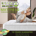 Ej. Life Double Mattress, Nine Zone Pocket Sprung Mattress 4FT6 Double Memory Foam Mattress with Breathable Broche Fabrics