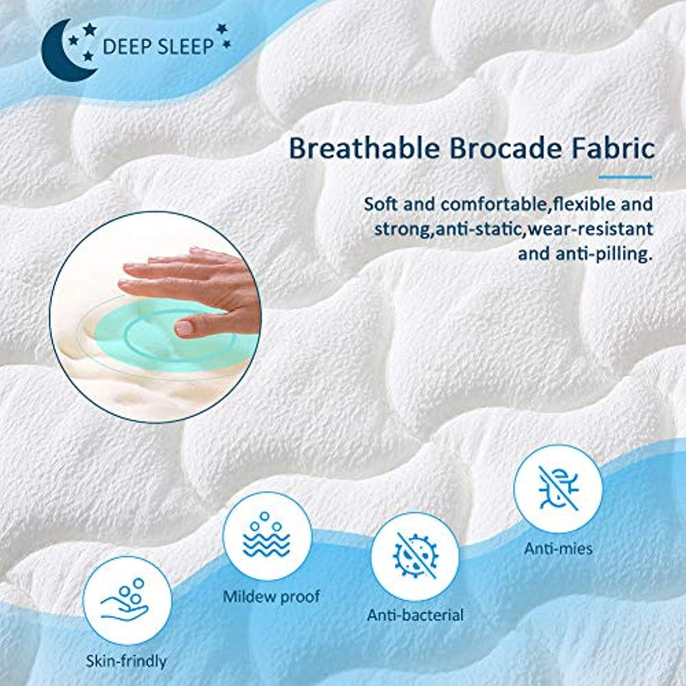Ej. Life 3FT Single 9-Zone Memory Foam Mattress with Pocket Springs - Orthopaedic Mattress - 10.6-Inch