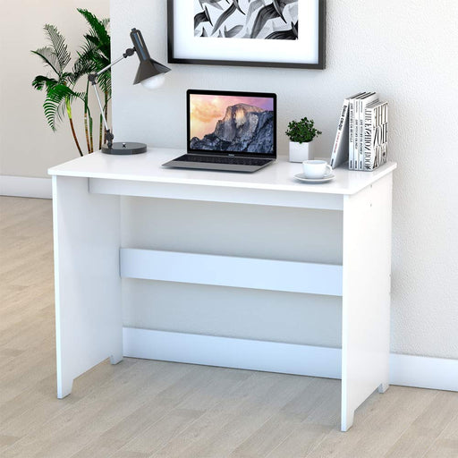 Lv. life Computer Desk, PC Laptop Table Workstation & Wooden Office Study Desk for Home Office (White)