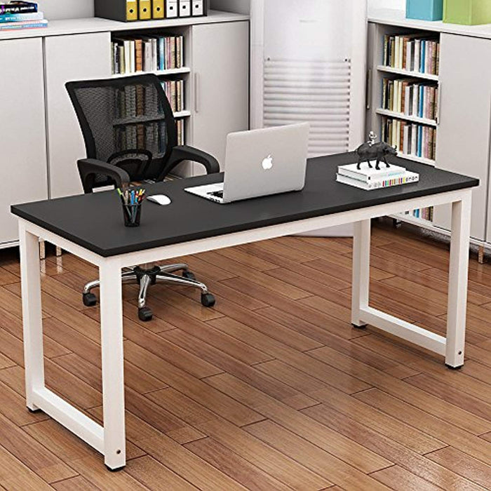 Computer Desk, ADD ONE +1 Office Study Desk Computer PC Laptop Table Workstation Gaming Table with Monitor Stand and File Shelf for Home Office, Black