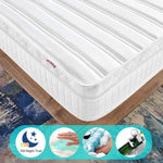 Ej. Life 3FT Single Pocket Sprung Mattress with Memory Foam Mattresses and 3D Breathable Fabric - Multi-Functional 9-Zone Orthopaedic Mattress - 10.6-Inch Deep