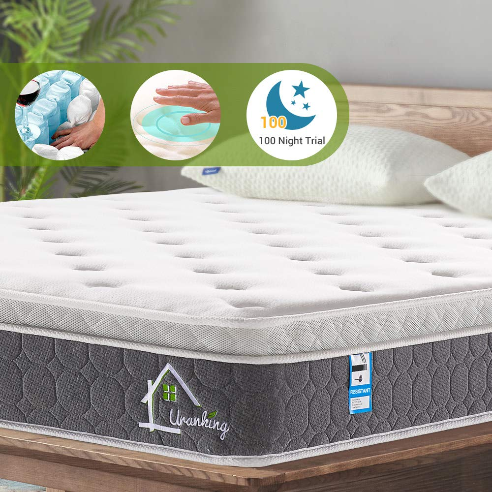 Ej. Life 3FT Single Pocket Sprung Mattress with Memory Foam and 3D Breathable Fabric 9-Zone Support System -100 Nights Trial