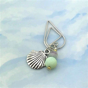 Shore Sea Shell Dangle Clip ~ Inspireology Charms ~ Handmade Planner Accessories
