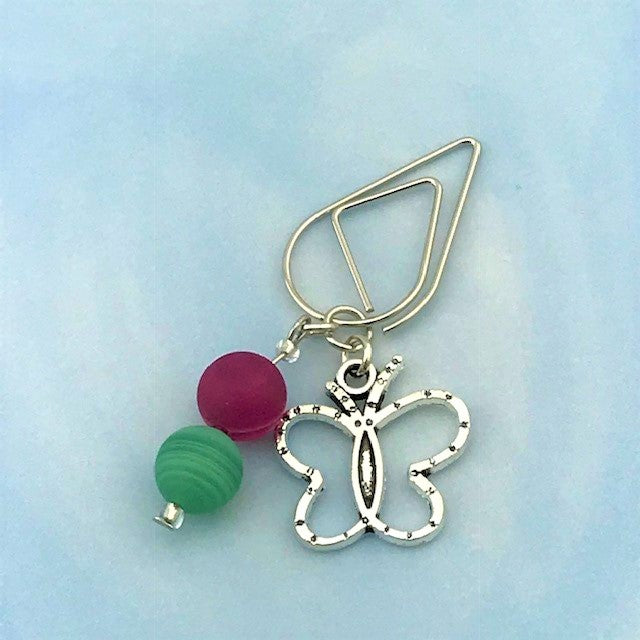Garden Butterfly Dangle Clip ~ Inspireology Charms ~ Handmade Planner Accessories
