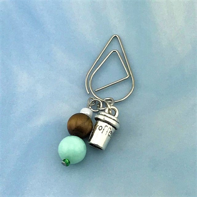 Mint Latte Dangle Clip ~ Inspireology Charms ~ Handmade Planner Accessories
