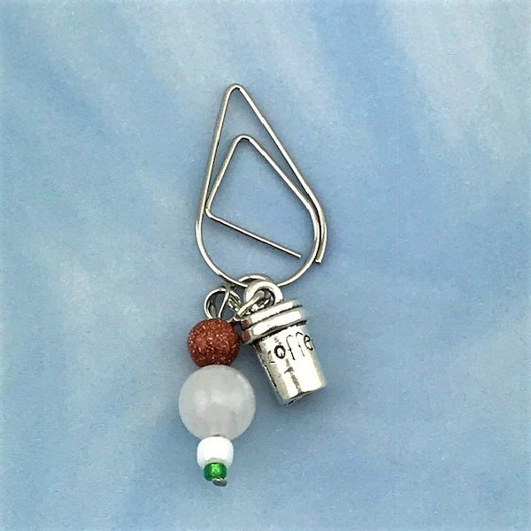 Espresso To Go Dangle Clip ~ Inspireology Charms ~ Handmade Planner Accessories