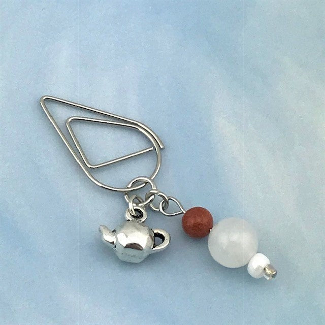 Chai Tea Dangle Clip ~ Inspireology Charms ~ Handmade Planner Accessories