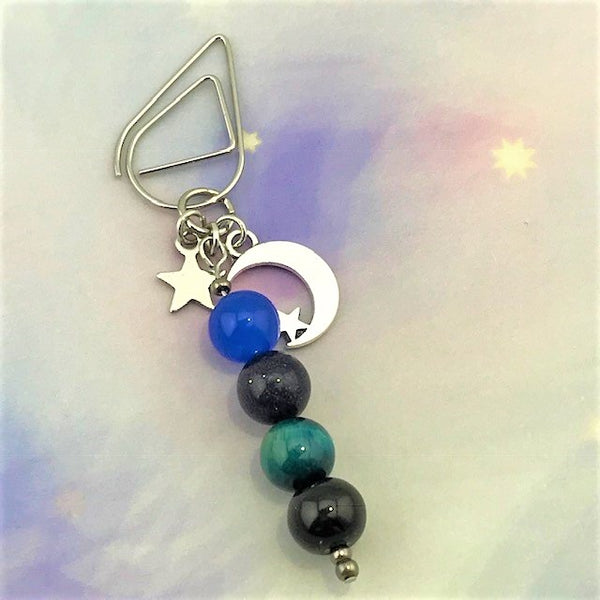 Universe Dangle Clip ~ Inspireology Charms ~ Handmade Planner Accessories