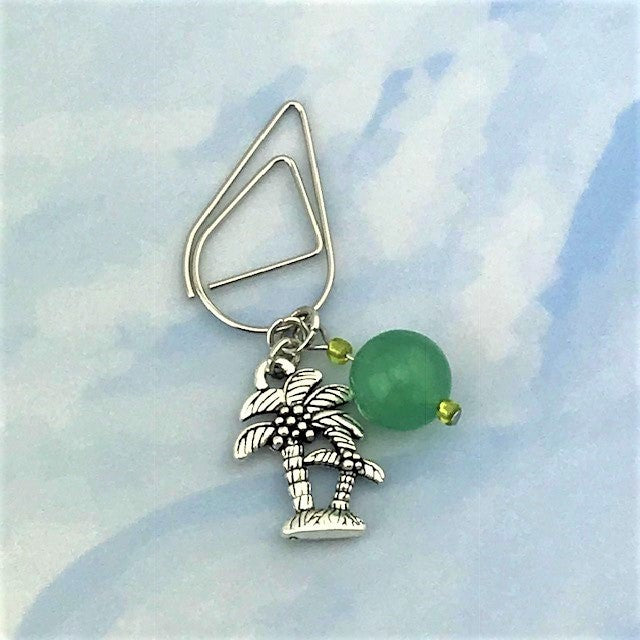Palms Swayin' Dangle Clip ~ Inspireology Charms ~ Handmade Planner Accessories