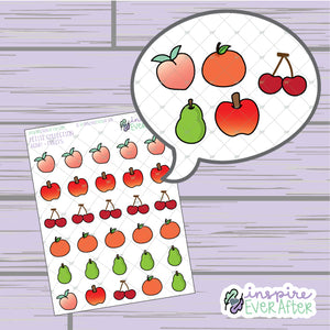 Crossin' Animals Fruit Doodles ~ Hand Drawn Video Game Icons ~ Petite Collection ~ Planner Stickers