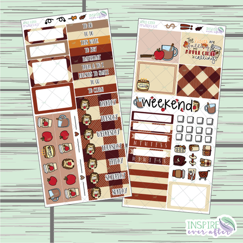 Apple Cider PPWeeks Weekly Kit ~ Hand Drawn Functional Planner Stickers