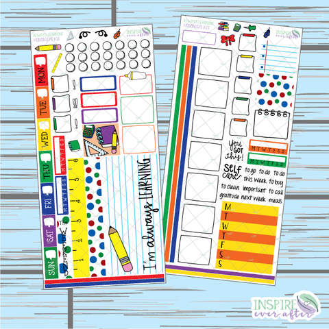 Always Learning Hobonichi Weekly Kit ~ Hand Drawn Planner Stickers
