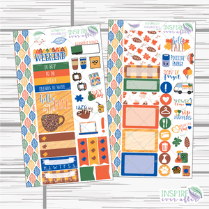Autumn Sky Personal Sized Weekly Kit - Planner Stickers