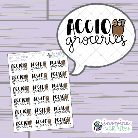 Magical Groceries ~ Hand Drawn Magical Foodie ~ Petite Collection ~ Planner Stickers