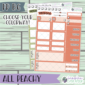 All Peachy Collection PPB6 Basic Weekly Kit ~ Choose Your Colorway! ~ Hand Drawn Seasonal Functional Planner Stickers